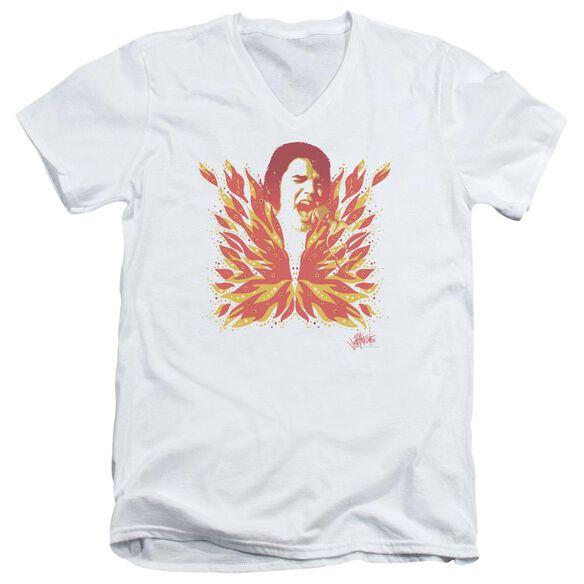 Elvis His Latest Flame Short Sleeve Adult V Neck T-Shirt
