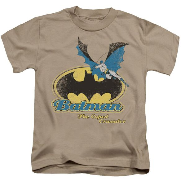 Batman Caped Crusader Retro Short Sleeve Juvenile Sand Md T-Shirt