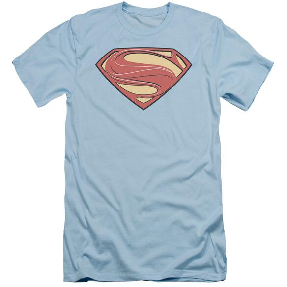 Man Of Steel New Solid Shield Short Sleeve Adult Light T-Shirt