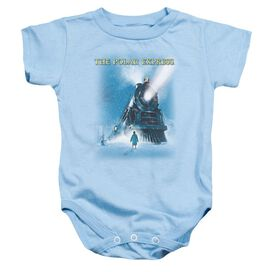 Polar Express Big Train Infant Snapsuit Light Blue Lg
