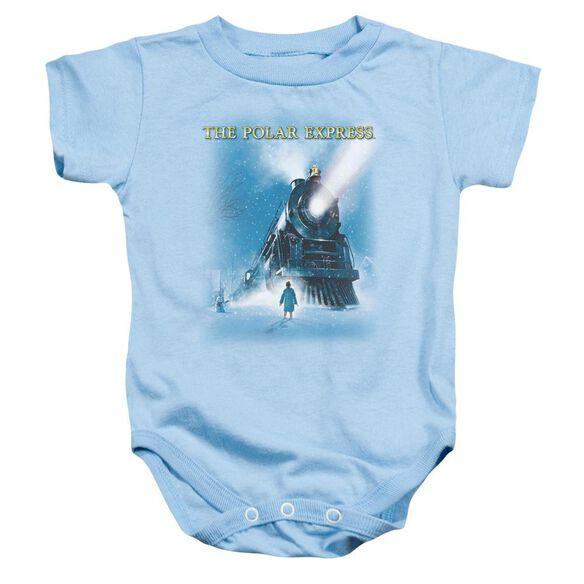 Polar Express Big Train Infant Snapsuit Light Blue Lg