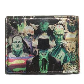 Justice League Heroes Villains Wallet