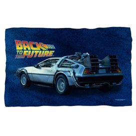 Back To The Future Delorean Fleece Blanket