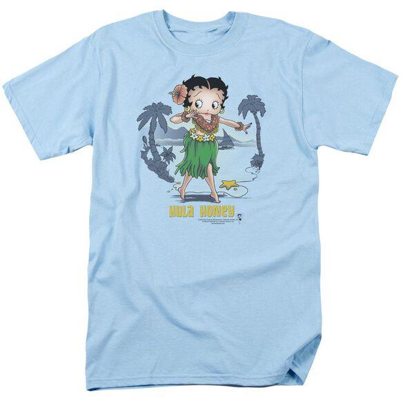 Betty Boop Hula Honey Short Sleeve Adult Carolina Blue T-Shirt
