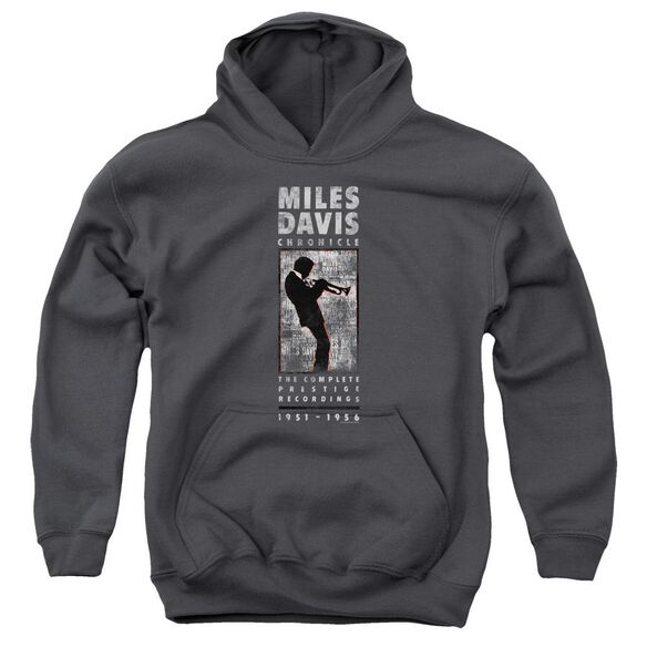 Miles Davis Miles Silhouette Youth Pull Over Hoodie