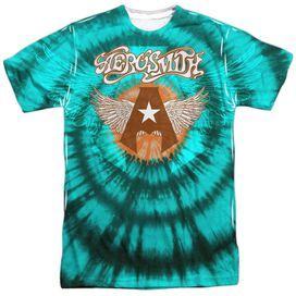 Aerosmith Tie Dye Short Sleeve Adult Poly Crew T-Shirt