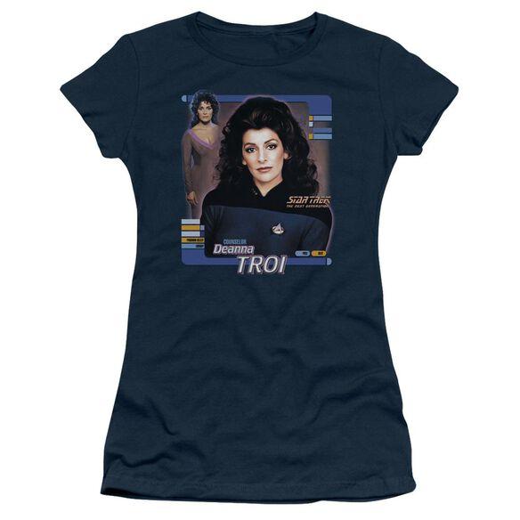 Star Trek Deanna Troi Short Sleeve Junior Sheer T-Shirt