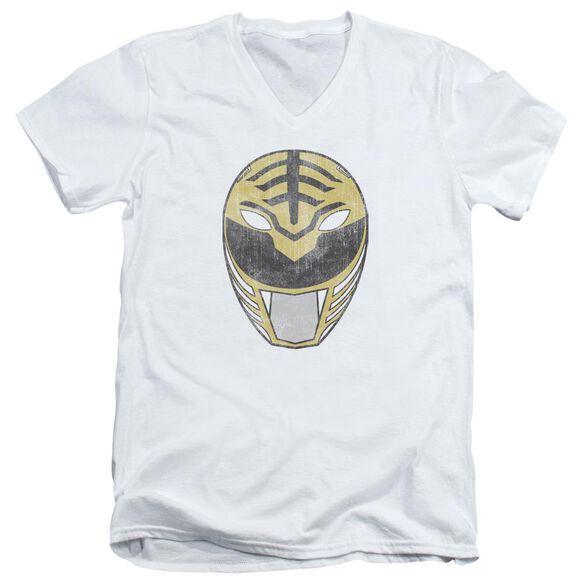 Power Rangers Ranger Mask Short Sleeve Adult V Neck T-Shirt