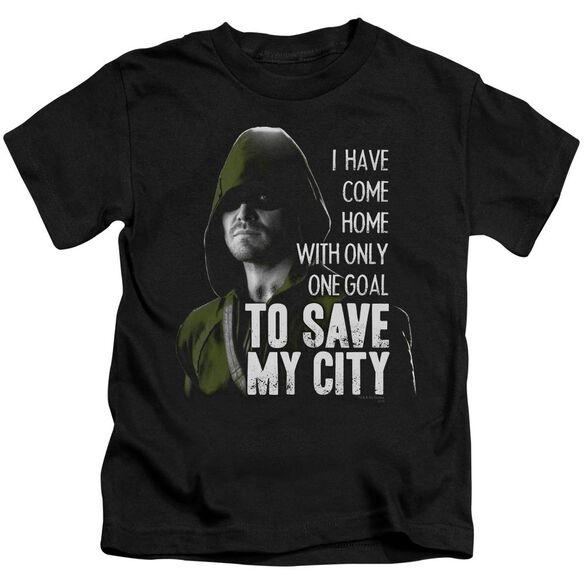Arrow Save My City Short Sleeve Juvenile T-Shirt