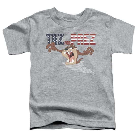Looney Tunes Taz For Prez 3 Short Sleeve Toddler Tee Athletic Heather T-Shirt