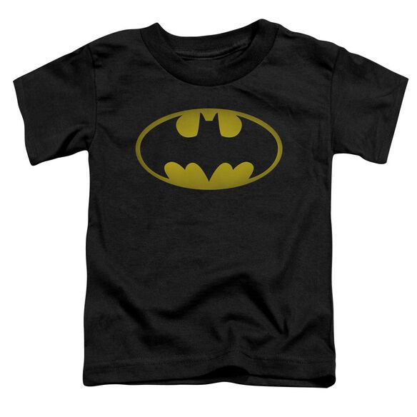 Batman Washed Bat Logo Short Sleeve Toddler Tee Black Sm T-Shirt