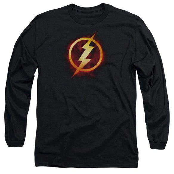 Jla Flash Title Long Sleeve Adult T-Shirt
