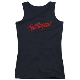 Ted Nugent Distress Logo Juniors Tank Top