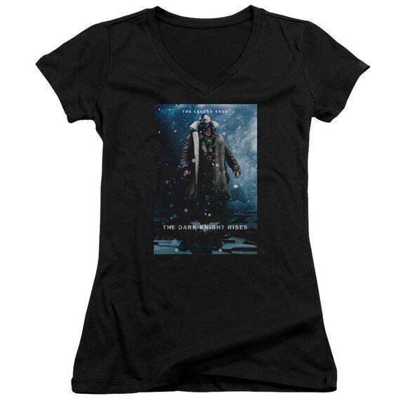Dark Knight Rises Bane Poster Junior V Neck T-Shirt
