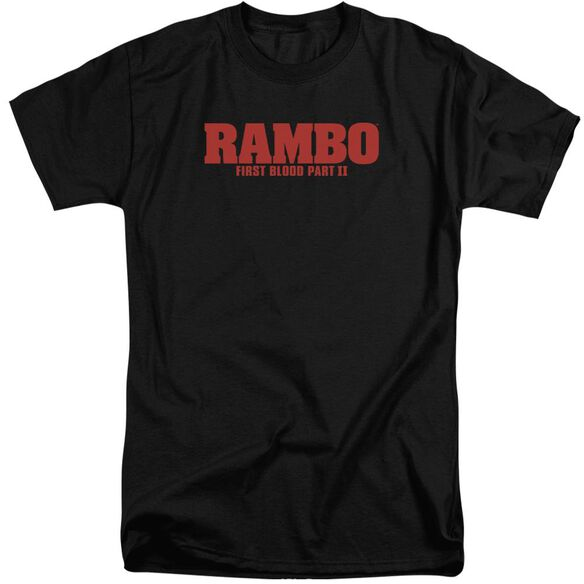 Rambo:First Blood Ii Logo Short Sleeve Adult Tall T-Shirt
