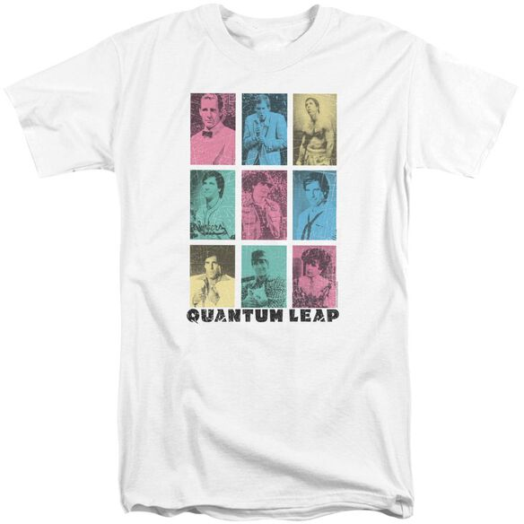 Quantum Leap Faces Of Sam Short Sleeve Adult Tall T-Shirt