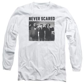 Three Stooges Never Scared Long Sleeve Adult T-Shirt