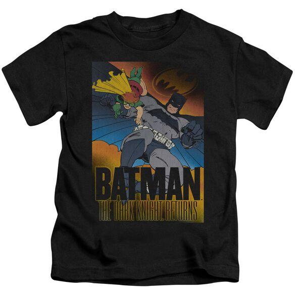 Batman Dk Returns Short Sleeve Juvenile Black Md T-Shirt