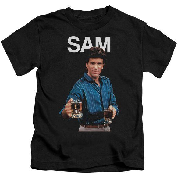 Cheers Sam Short Sleeve Juvenile Black T-Shirt