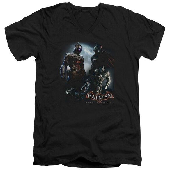Batman Arkham Knight Face Off Short Sleeve Adult V Neck T-Shirt