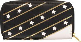 Wonder Woman Logo Stars Zipper Clutch Wallet