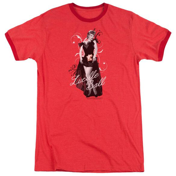 Lucille Ball Signature Look Adult Heather Ringer Red