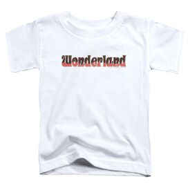 Zenoscope Wonderland Logo Short Sleeve Toddler Tee White T-Shirt