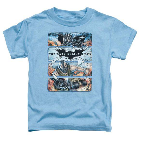 Dark Knight Rises Shattered Glass Short Sleeve Toddler Tee Carolina Blue Sm T-Shirt