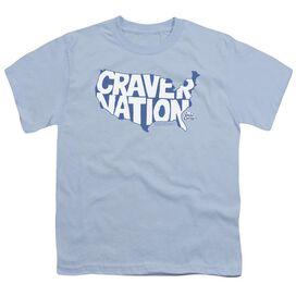 White Castle Craver Nation Short Sleeve Youth Light T-Shirt