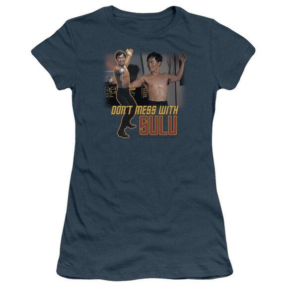 Star Trek Don't Mess With Sulu Short Sleeve Junior Sheer T-Shirt