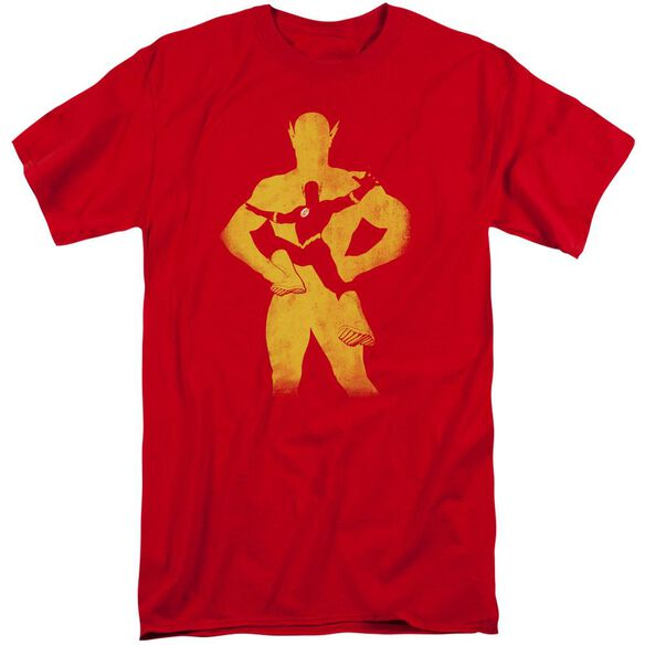 Jla Flash Knockout Short Sleeve Adult Tall T-Shirt