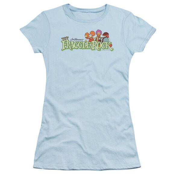Fraggle Rock Leaf Logo Short Sleeve Junior Sheer Light T-Shirt