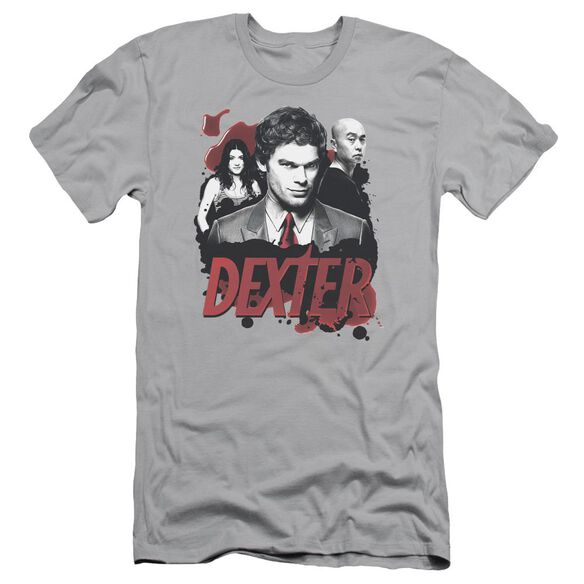 DEXTER BLOODY TRIO - S/S ADULT 30/1 - SILVER T-Shirt