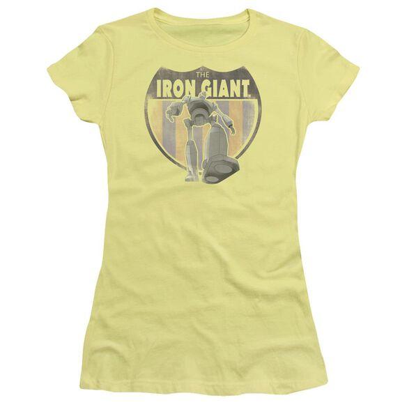 Iron Giant Patch Short Sleeve Junior Sheer T-Shirt