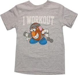 Mr Potato Head Workout Heather Youth T-Shirt