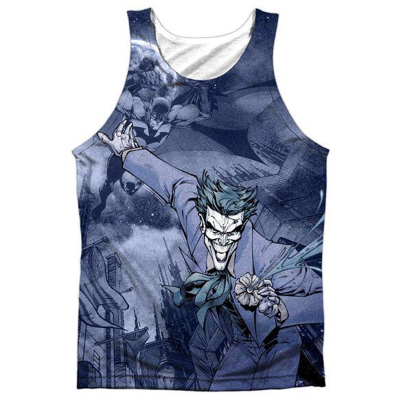 Batman Catch The Joker Adult 100% Poly Tank Top