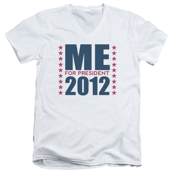 Me For President Short Sleeve Adult V Neck T-Shirt