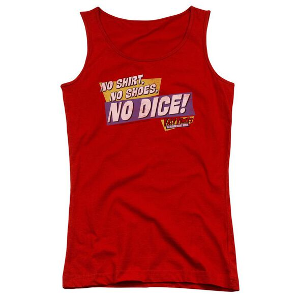 Fast Times Ridgemont High No Dice Juniors Tank Top