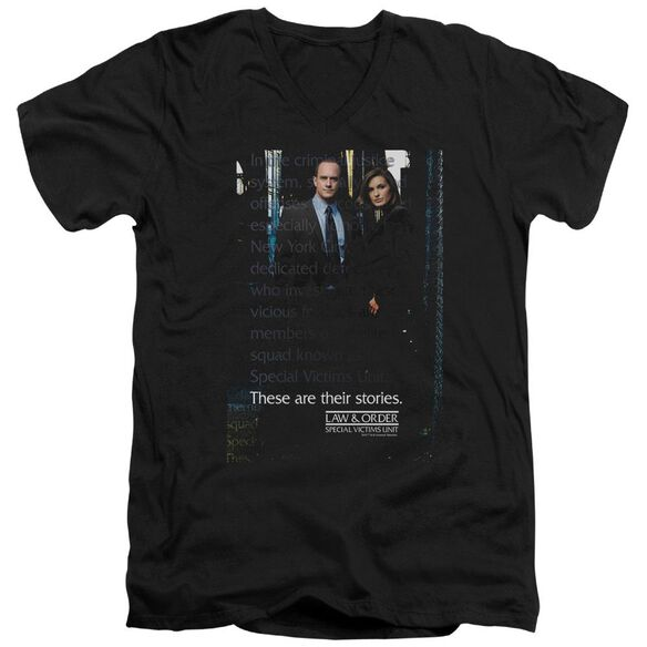 Law And Order Svu Svu Short Sleeve Adult V Neck T-Shirt