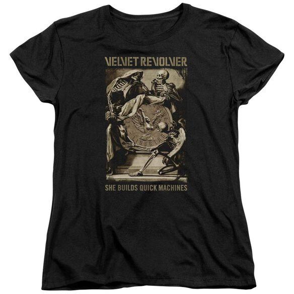 Velvet Revolver Quick Machines Short Sleeve Womens Tee T-Shirt