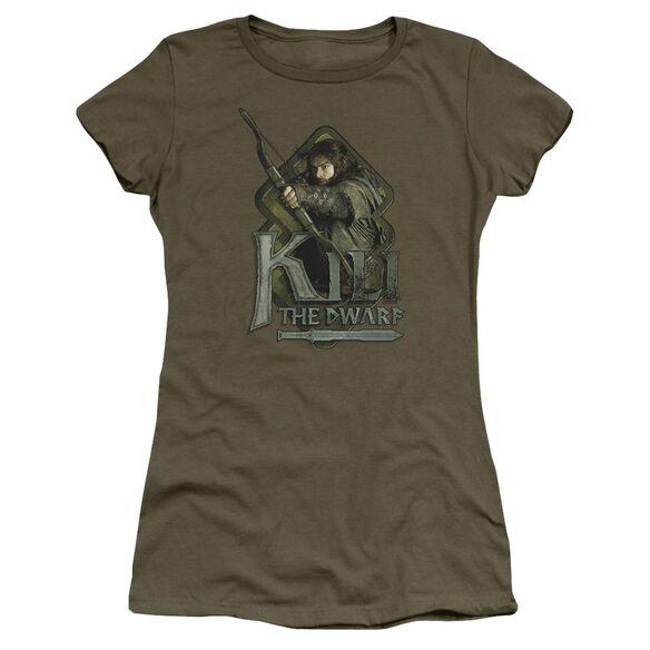 The Hobbit Kili Short Sleeve Junior Sheer Military T-Shirt