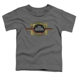 Electric Company Logo Short Sleeve Toddler Tee Charcoal T-Shirt