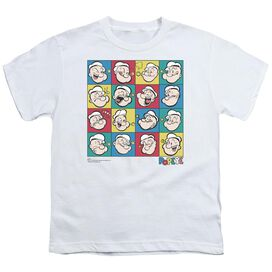 POPEYE COLOR BLOCK - S/S YOUTH 18/1 - WHITE T-Shirt