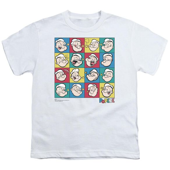 Popeye Color Block Short Sleeve Youth T-Shirt
