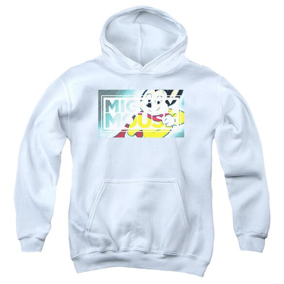 Mighty Mouse Mighty Rectangle Youth Pull Over Hoodie