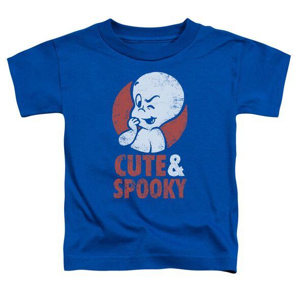 Casper Spooky Short Sleeve Toddler Tee Royal Blue T-Shirt