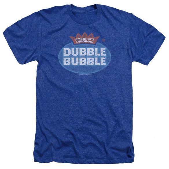 Dubble Bubble Vintage Logo Adult Heather Royal