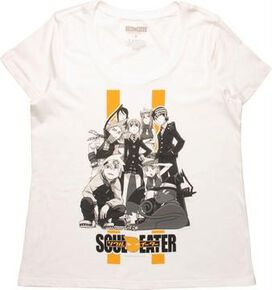 Soul Eater BW Group Pose Ladies T-Shirt