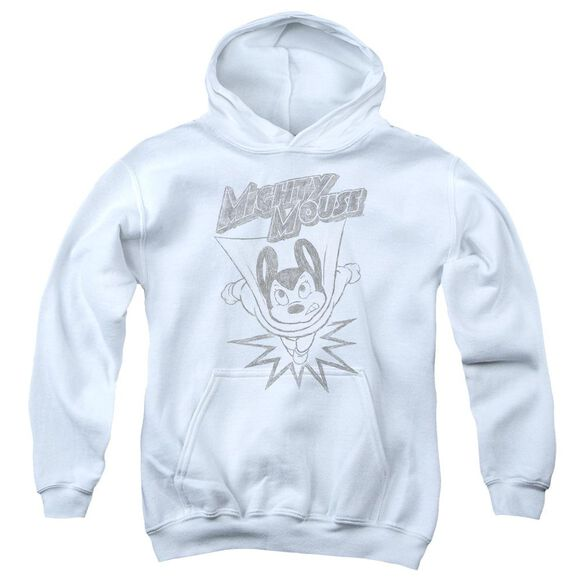 Mighty Mouse Bursting Out Youth Pull Over Hoodie