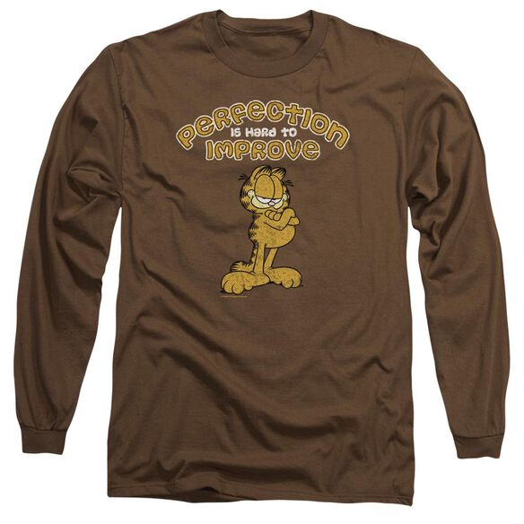 GARFIELD PERFECT - L/S ADULT 18/1 - COFFEE T-Shirt